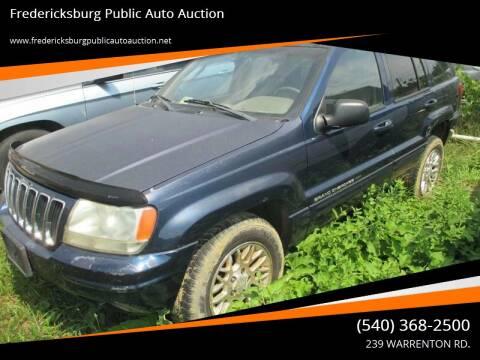 2002 Jeep Grand Cherokee for sale at FPAA in Fredericksburg VA