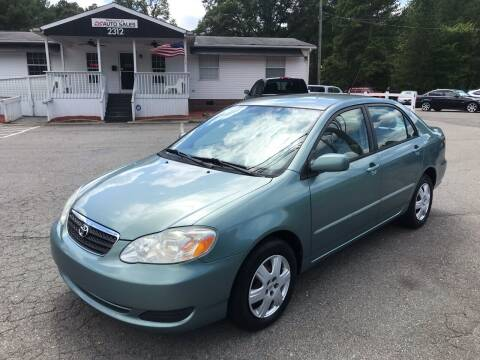 2005 Toyota Corolla for sale at CVC AUTO SALES in Durham NC