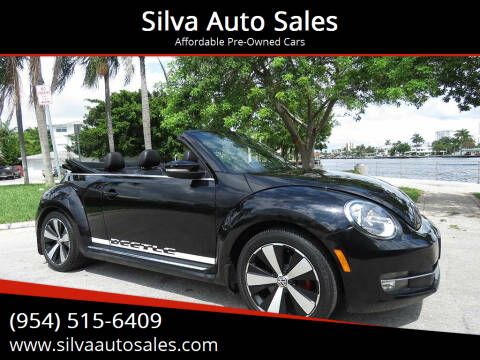 2013 Volkswagen Beetle Convertible for sale at Silva Auto Sales in Pompano Beach FL