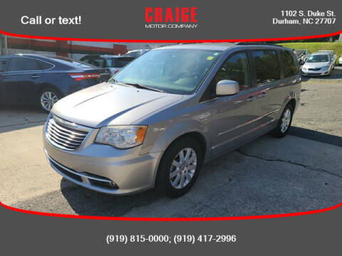 2013 Chrysler Town and Country for sale at CRAIGE MOTOR CO in Durham NC