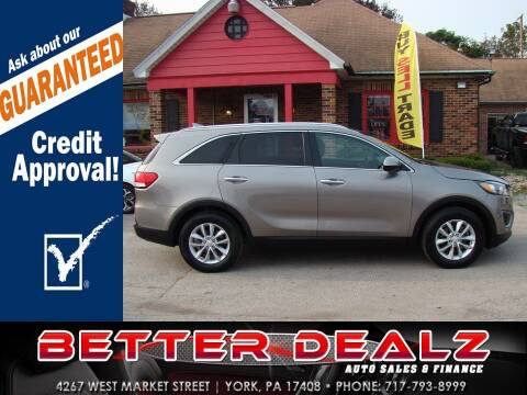 2017 Kia Sorento for sale at Better Dealz Auto Sales & Finance in York PA