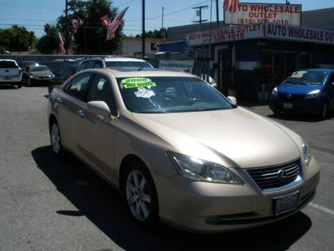 2008 Lexus ES 350 for sale at AUTO WHOLESALE OUTLET in North Hollywood CA
