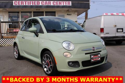 2013 FIAT 500 for sale at CERTIFIED CAR CENTER in Fairfax VA
