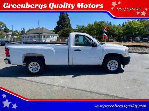 2008 Chevrolet Silverado 1500 for sale at Greenbergs Quality Motors in Napa CA