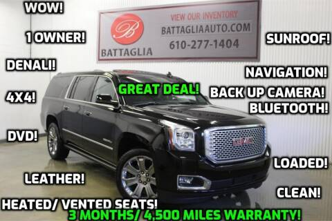 2016 GMC Yukon XL for sale at Battaglia Auto Sales in Plymouth Meeting PA