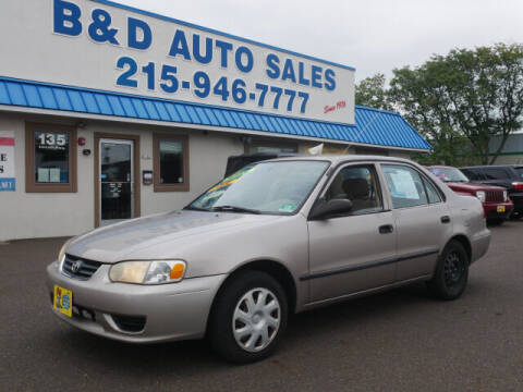 2001 Toyota Corolla for sale at B & D Auto Sales Inc. in Fairless Hills PA