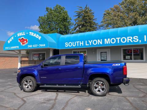 2016 Chevrolet Colorado for sale at South Lyon Motors INC in South Lyon MI