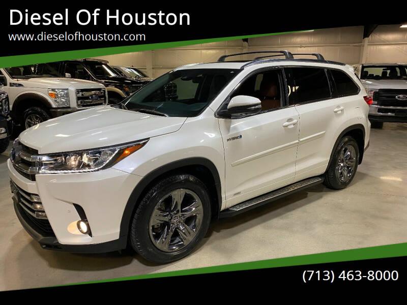 2018 Toyota Highlander Hybrid for sale at Diesel Of Houston in Houston TX