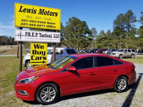 2017 Hyundai Sonata for sale at Lewis Motors LLC in Deridder LA