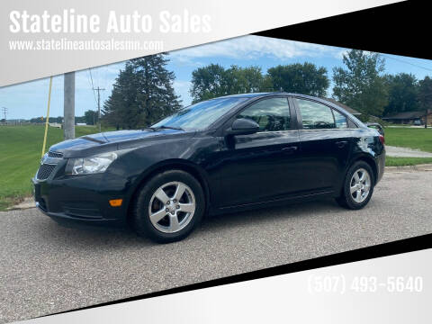 2013 Chevrolet Cruze for sale at Stateline Auto Sales in Mabel MN