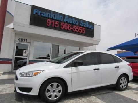 2017 Ford Focus for sale at Franklin Auto Sales in El Paso TX