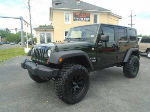 2010 Jeep Wrangler Unlimited for sale at Top Gear Motors in Winchester VA