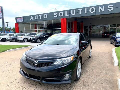 2013 Toyota Camry for sale at Auto Solutions in Warr Acres OK