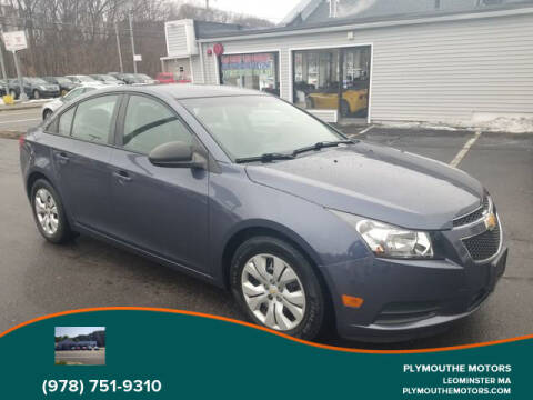 2014 Chevrolet Cruze for sale at Plymouthe Motors in Leominster MA