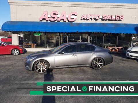 2011 Infiniti G25 Sedan for sale at ASAC Auto Sales in Clarksville TN