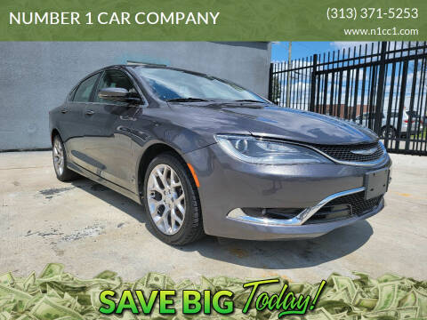 2015 Chrysler 200 for sale at NUMBER 1 CAR COMPANY in Detroit MI