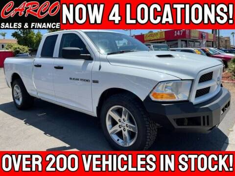 2012 RAM Ram Pickup 1500 for sale at CARCO SALES & FINANCE in Chula Vista CA