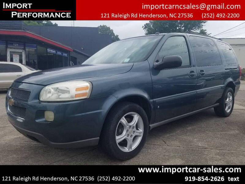 2006 Chevrolet Uplander for sale at Import Performance Sales - Henderson in Henderson NC