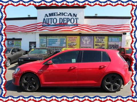 2016 Volkswagen Golf GTI for sale at American Auto Depot in Modesto CA