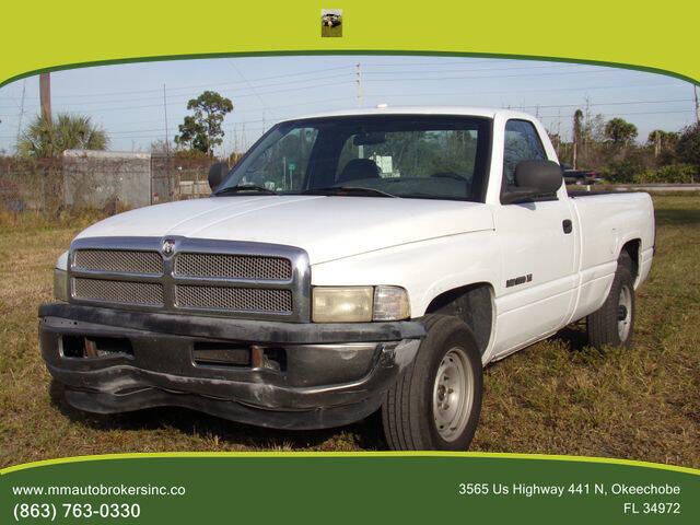 2001 Dodge Ram Pickup 1500 for sale at M & M AUTO BROKERS INC in Okeechobee FL