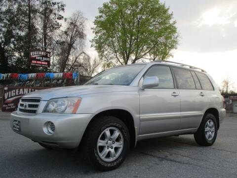 2002 Toyota Highlander for sale at Vigeants Auto Sales Inc in Lowell MA