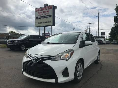 2015 Toyota Yaris for sale at Unlimited Auto Group in West Chester OH