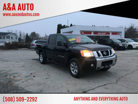 2012 Nissan Titan for sale at A&A AUTO in Fairhaven MA