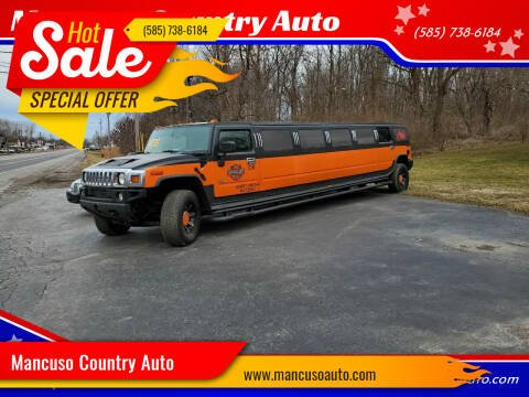 2004 HUMMER H2 COACH 14 PASSENGER! H2 for sale at Mancuso Country Auto in Batavia NY