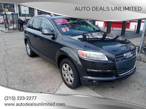 2007 Audi Q7 for sale at AUTO DEALS UNLIMITED in Philadelphia PA