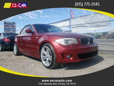 2012 BMW 1 Series for sale at Escar Auto in El Paso TX