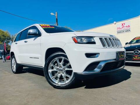 2014 Jeep Grand Cherokee for sale at Alpha AutoSports in Roseville CA