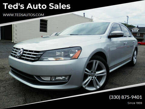 2014 Volkswagen Passat for sale at Ted's Auto Sales in Louisville OH