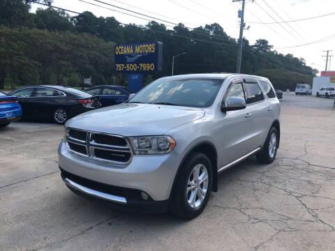 2012 Dodge Durango for sale at Oceana Motors in Virginia Beach VA