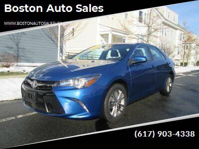 2017 Toyota Camry for sale at Boston Auto Sales in Brighton MA
