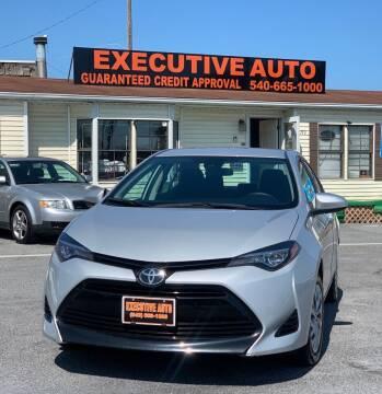 2019 Toyota Corolla for sale at Executive Auto in Winchester VA