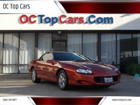 2002 Chevrolet Camaro for sale at OC Top Cars in Irvine CA