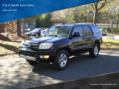 2003 Toyota 4Runner for sale at P & A Smith Auto Sales in Cary NC