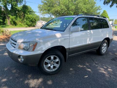 2003 Toyota Highlander for sale at Seaport Auto Sales in Wilmington NC