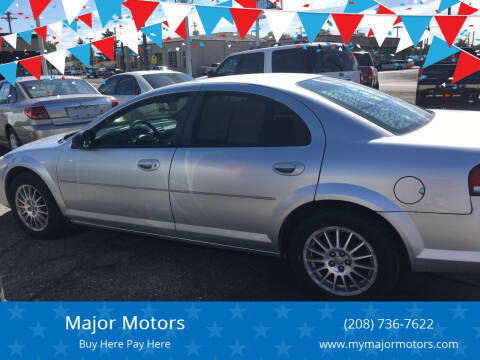 2006 Chrysler Sebring for sale at Major Motors in Twin Falls ID