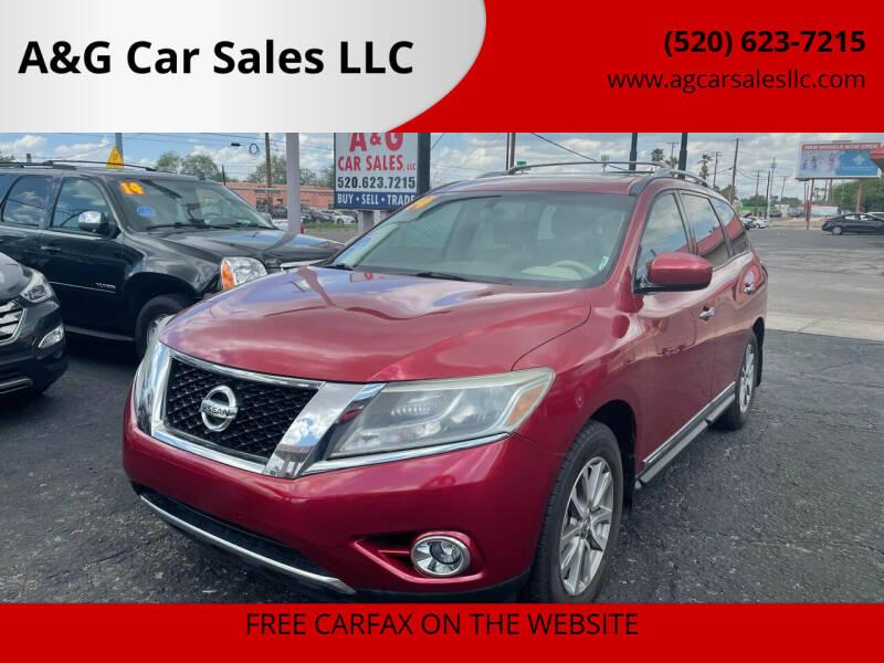 2014 Nissan Pathfinder for sale at A&G Car Sales  LLC in Tucson AZ