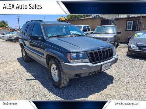 2002 Jeep Grand Cherokee for sale at ALSA Auto Sales in El Cajon CA