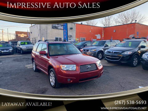 2008 Subaru Forester for sale at Impressive Auto Sales in Philadelphia PA