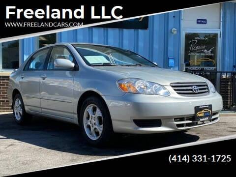 2004 Toyota Corolla for sale at Freeland LLC in Waukesha WI