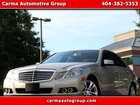 2011 Mercedes-Benz E-Class for sale at Carma Auto Group in Duluth GA