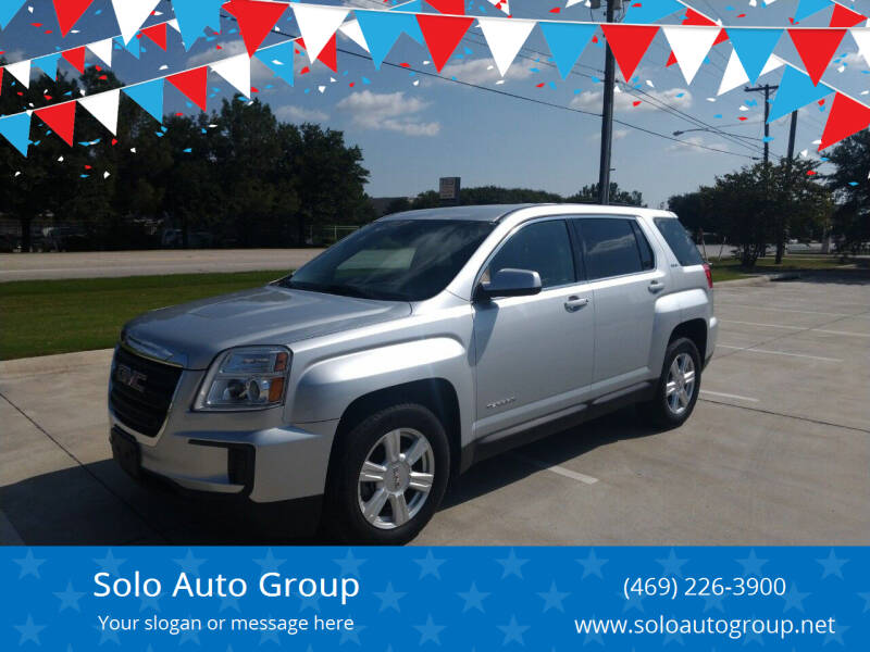 2016 GMC Terrain for sale at Solo Auto Group in Mckinney TX