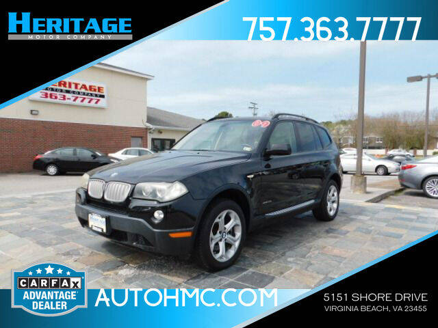 2009 BMW X3 for sale at Heritage Motor Company in Virginia Beach VA
