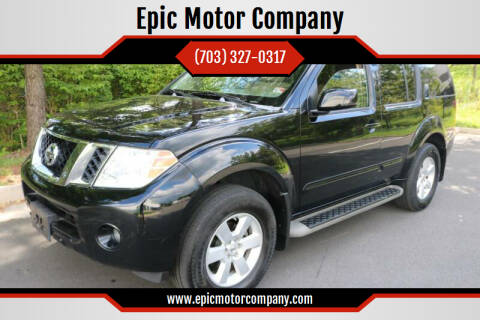 2008 Nissan Pathfinder for sale at Epic Motor Company in Chantilly VA