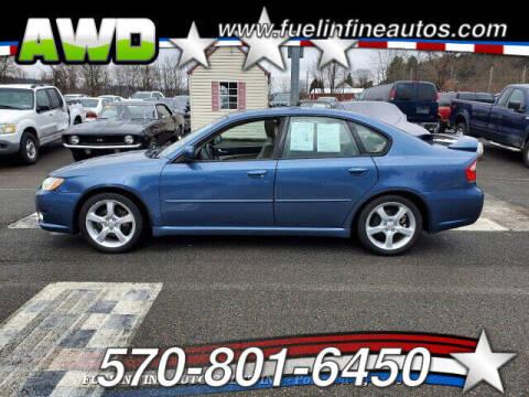 2008 Subaru Legacy for sale at FUELIN FINE AUTO SALES INC in Saylorsburg PA