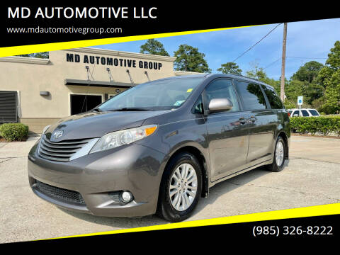 2012 Toyota Sienna for sale at MD AUTOMOTIVE LLC in Slidell LA
