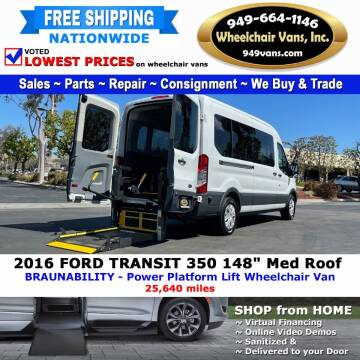 2016 Ford Transit Passenger for sale at Wheelchair Vans Inc - New and Used in Laguna Hills CA